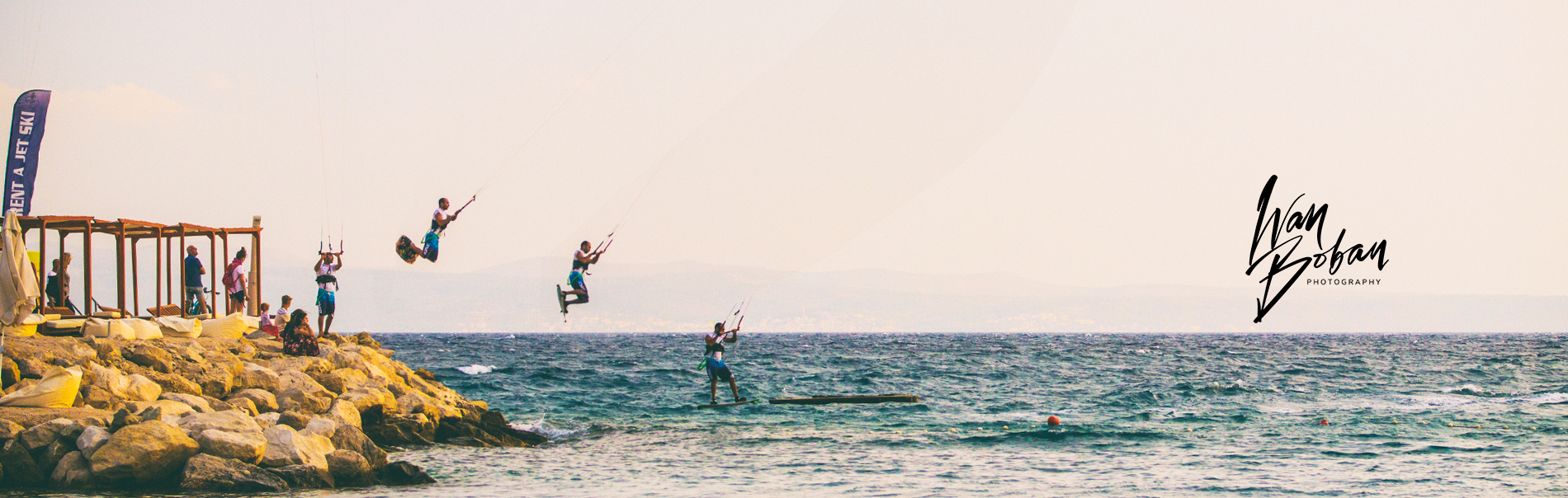 Ivan Boban Homepage Wide Hero Windsurfrer Action Sequence with logo